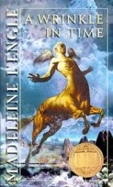 """""""A Wrinkle In Time"""" by Madeleine L'Engle book cover"""