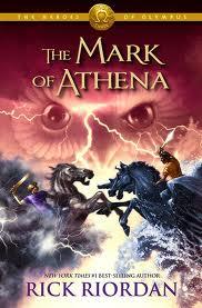 """Mark of Athena"" by Rick Riordan book cover"