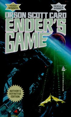 """""""Ender's Game"""" by Orson Scott Card book cover"""