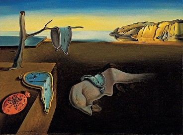 Salvador Dalí (Spanish, 1904-1989). The Persistence of Memory, 1931. Oil on canvas. 24.1 x 33 cm (9 1/2 x 13 in.). Given anonymously. The Museum of Modern Art, New York.http://0.tqn.com/d/arthistory/1/0/l/i/dali_moma_0708_11.jpg
