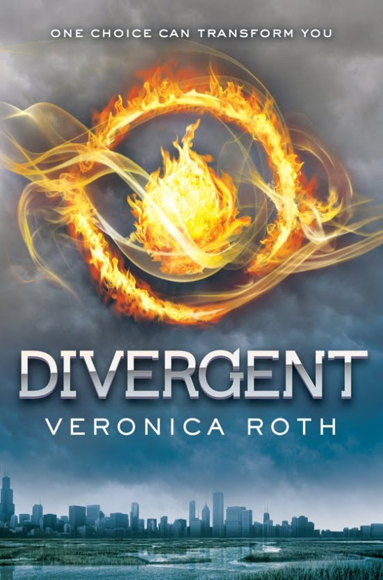 """Divergent"" by Veronica Roth book cover"