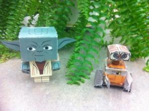 Yoda and Wall-E !