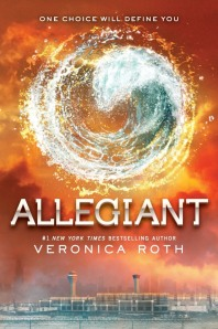 """Allegiant"" by Veronica Roth  book cover"