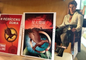 "Igo Teens ""Catching Fire"" Book Covers Display."