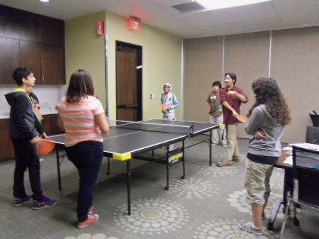 Mission Teens Play Table Tennis