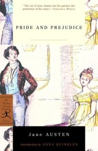 """Pride and Prejudice"" by Jane Austen book cover"