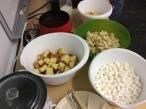 mini-marshmellows, apples,& baguette