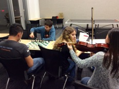 Chess & Viola playing